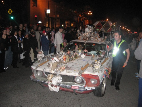 the procession car
