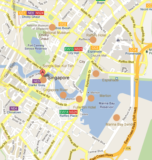 street map of singapore pdf
